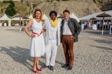 Maria-Theresia und Winfried Müller mit Veranstaltungs-Organisator Asmoron Teckee