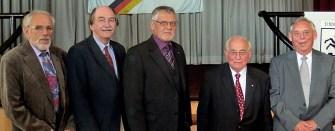 Rudolf Bauer, Bgm. Hans-Rainer Vollmöller, Siegbert Ortmann, Dr. Karl August Helfenbein und Anton Lerch