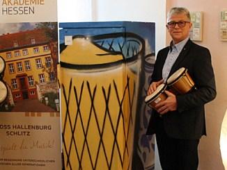 Lothar R. Behounek und Gerhard Bub bei der Übergabe. (v.l.)