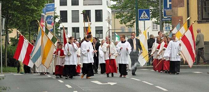 Fronleichnamsprozession in Fulda