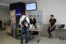 In den Foyers der AvH präsentierten verschiedene Einrichtungen ihr Angebot, hier das Steinbeis Center of Management and Technology (Lauterbach).