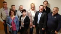 Thomas Scheich, Daniela Böschen, Frank Riemer, Oliver Berboth, Ramona Mack, Simone Mack, Frank Rörhig, Volker Schmitt, Reinhard Anders (v.l.)