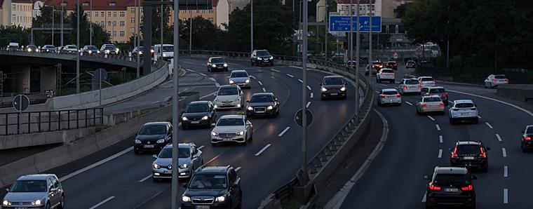 Auto in der Stadt