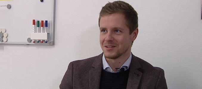 Klinikgeschäftsführer Sebastian Mock im Gespräch