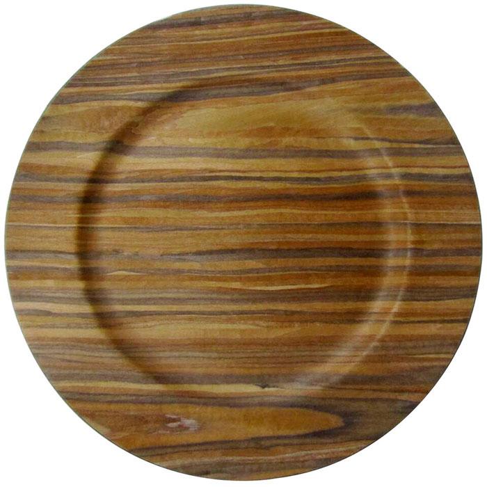 Wooden Veneer Plastic Charger Plates