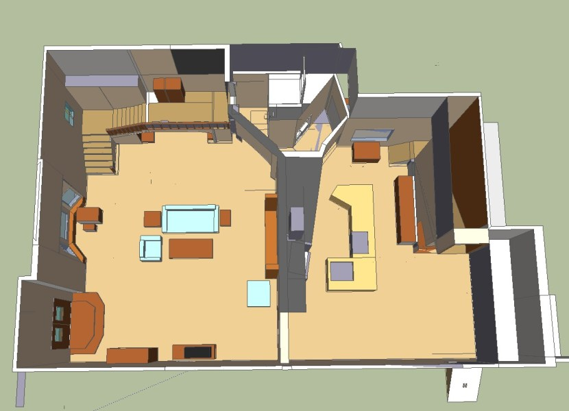 The House   Full House Forever Full House House Floor Plan First Floor 3D