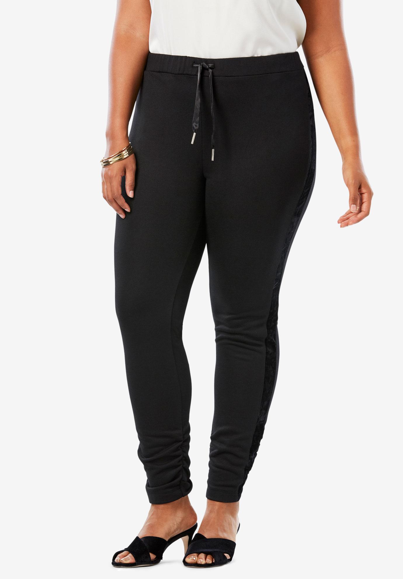 Velour Trim Legging Plus Size Pants