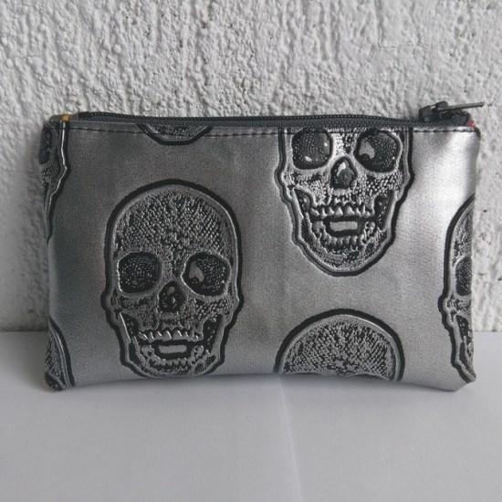 porte monnaie argent skulls