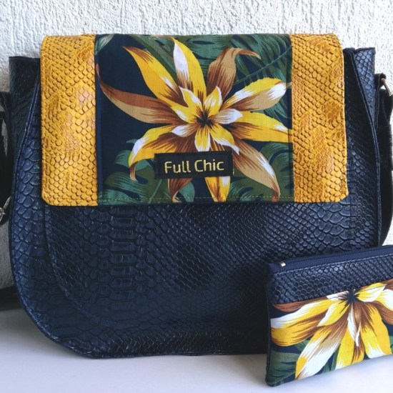 duo sac band fleur moutarde