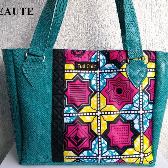sac turquoise wax rosace