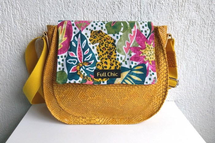 sac besace tropical leopard