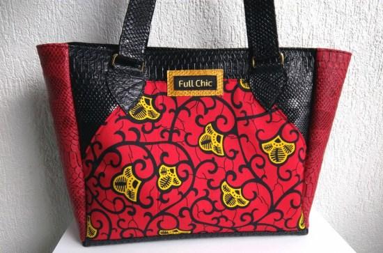 sac wax rouge noir