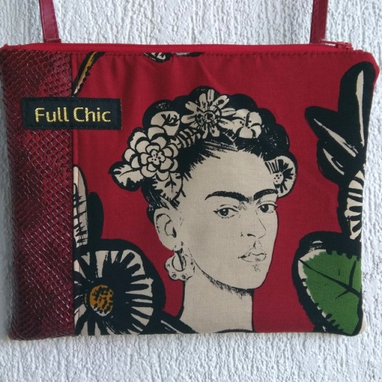 pochette frida bordeaux