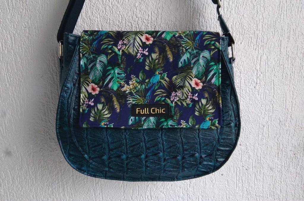sac besace tropical perroquet