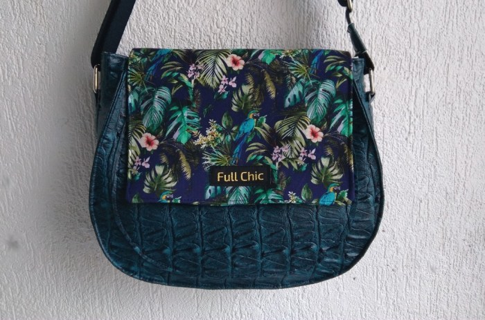 sac besace tropical perroquet