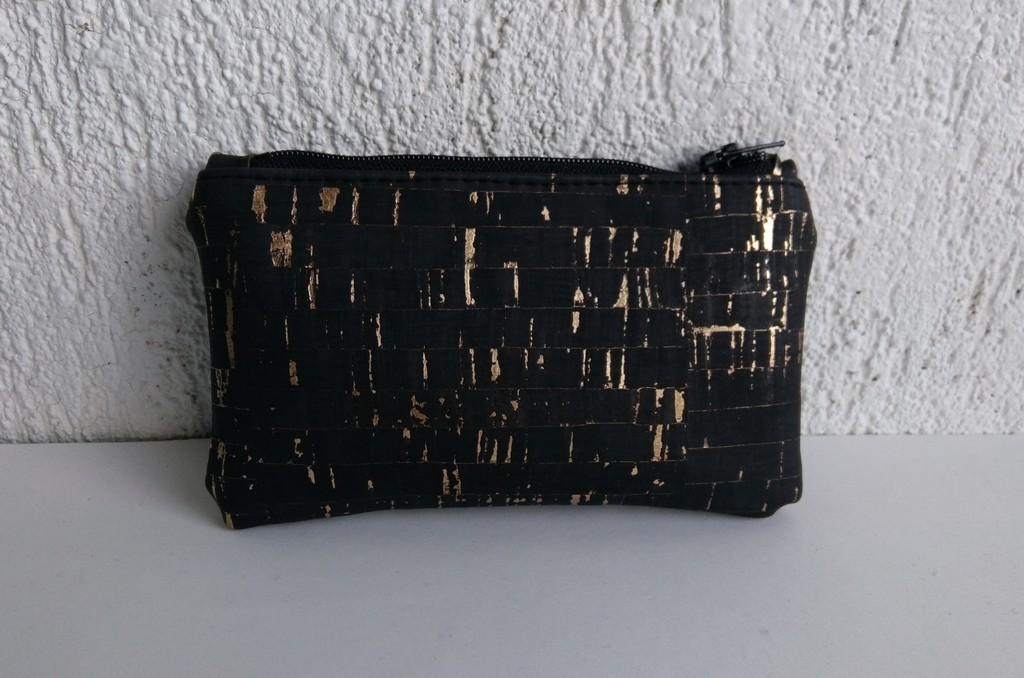 Porte-monnaie noir doré