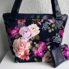 duo sac fleurs velours