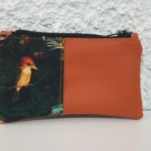 porte monnaie orange tropical