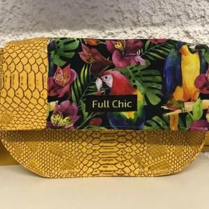 mini besace jaune tropical perroquet