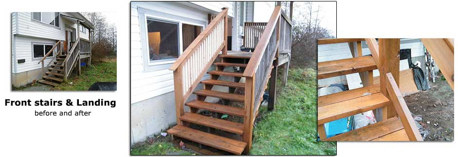 Front entrance stairs & landing