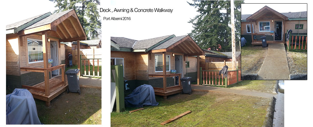 Deck and walkway for wheelchair access