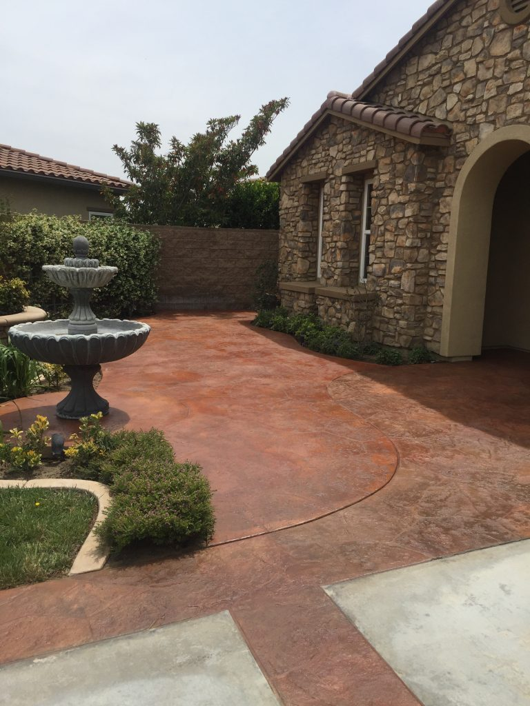 concrete patio paint epoxy or stain