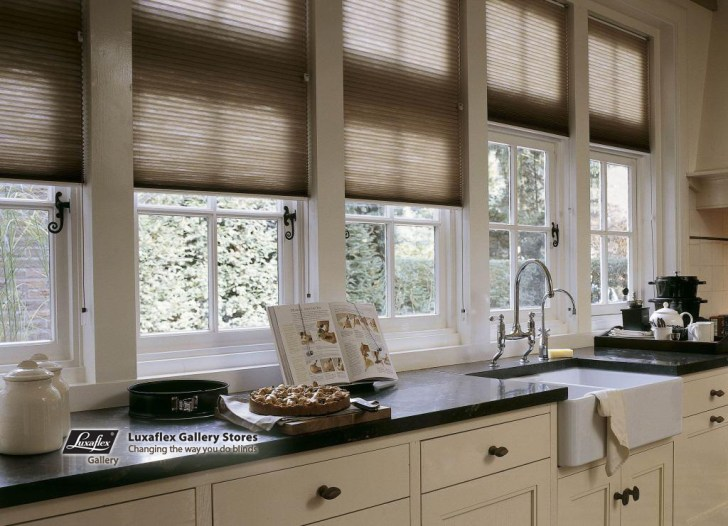Here Home Duette Blinds Beige Brown Kitchen