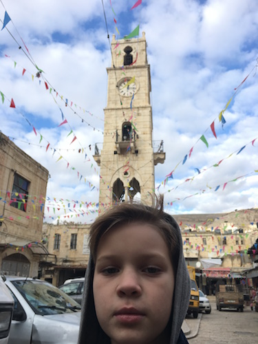 The al-Manara Clock Tower built under Ottoman rule in 1906, now the city's symbol.