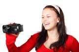 girl with a camcorder