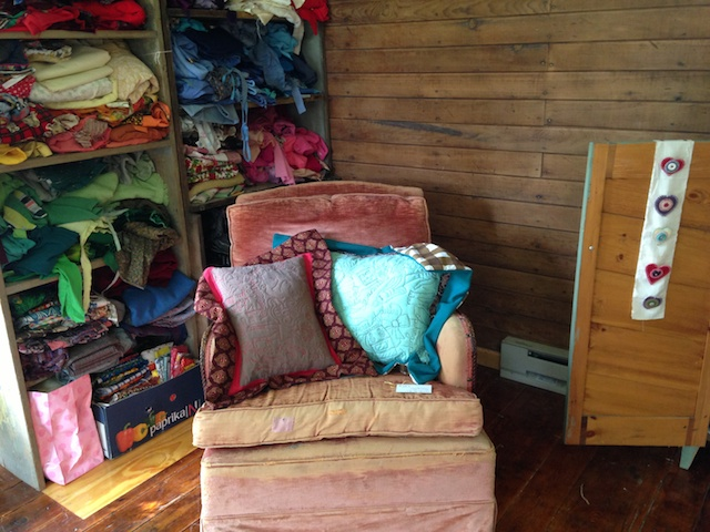 chair and pillows
