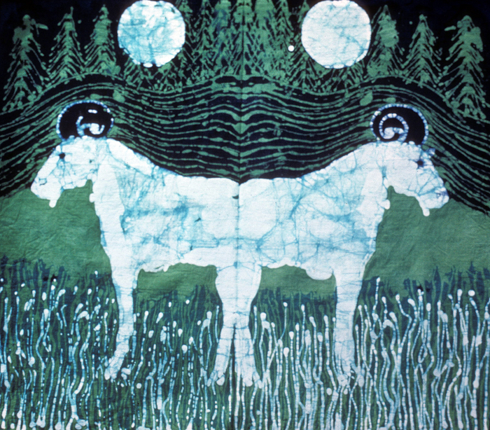 Goats in moonlight By Carol Law Conklin