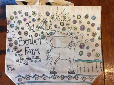 Laura's Tote Bag, on it's way to Canada