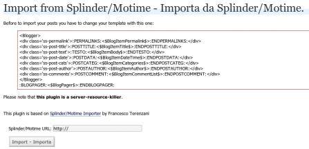 splinder to wordpress importer