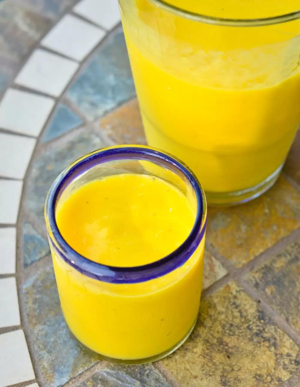 vegan smoothie mango sunshine
