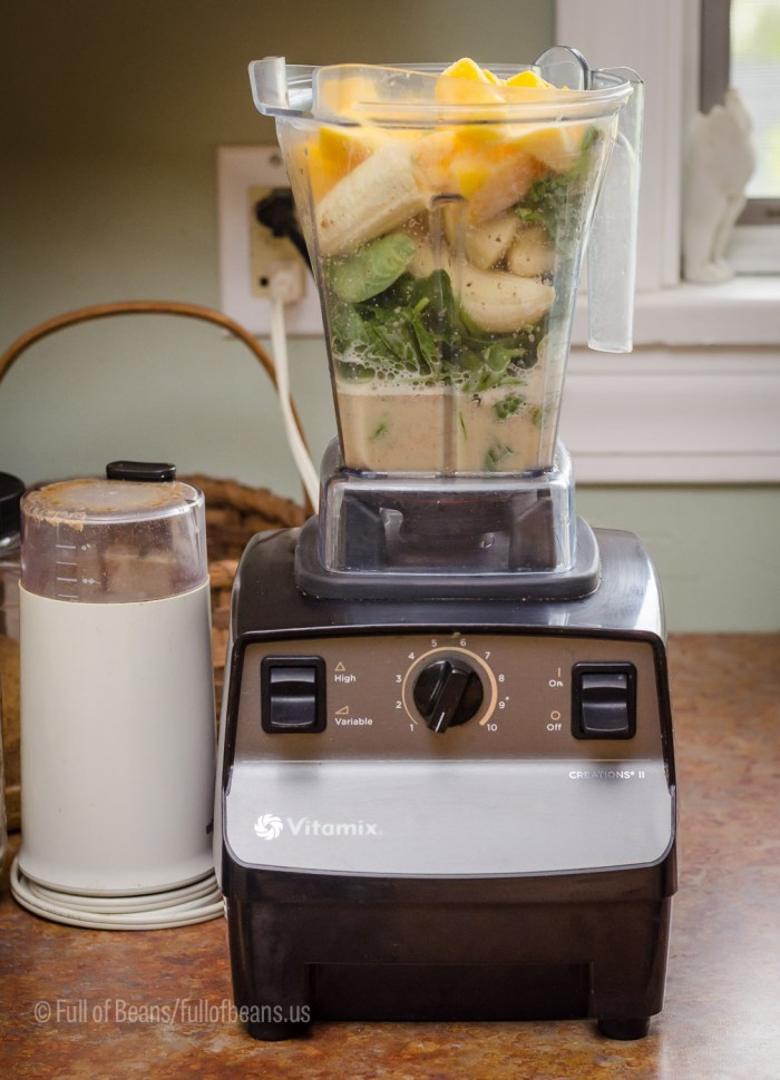 A Vitamix and a small coffee grinder really make this a quick job