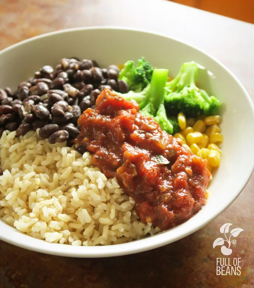 Rice And Beans With Broccoli