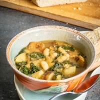 Vegan Portuguese Kale, White Bean, and Sausage Soup