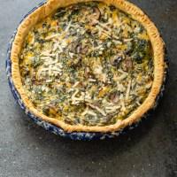 Vegan Spinach and Broccoli Quiche