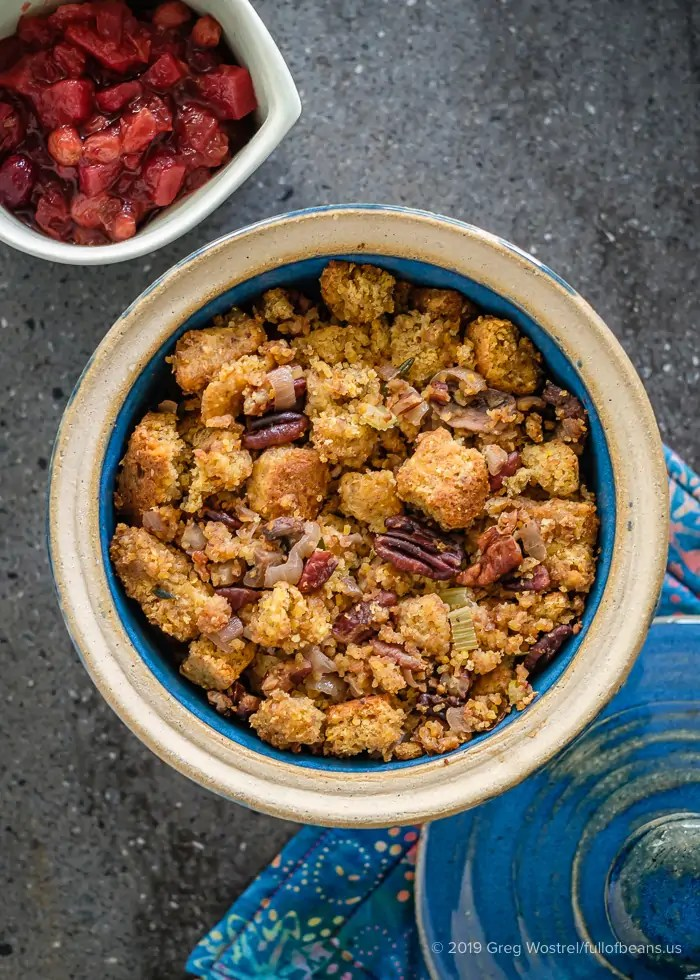 Vegan Cornbread And Roasted Pecan Stuffing