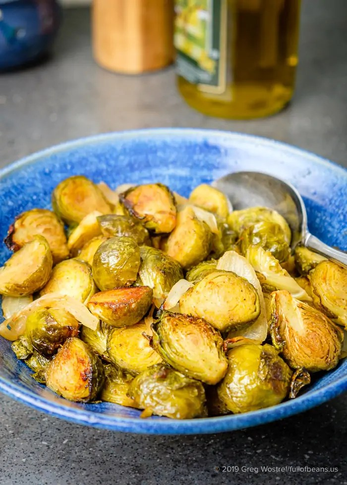 Roasted Brussels Sprouts With Maple And Mustard Glaze