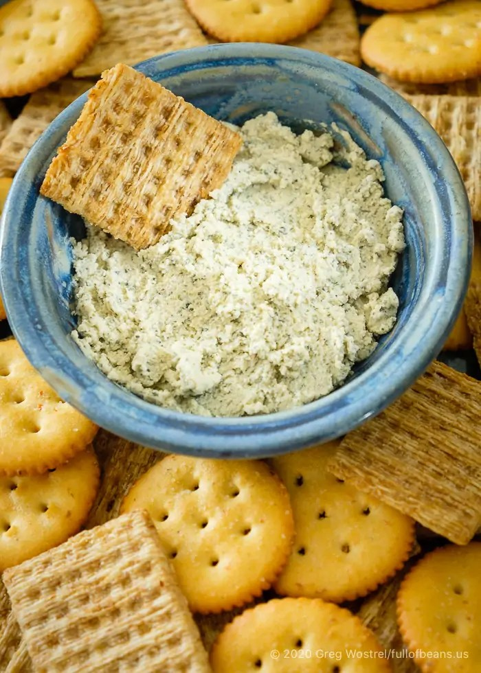 Soft Dairy-free Herb Cheese