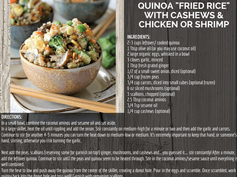 quinoa and chicken