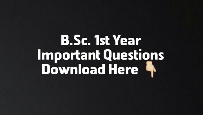 bsc-1st-year-important-questions