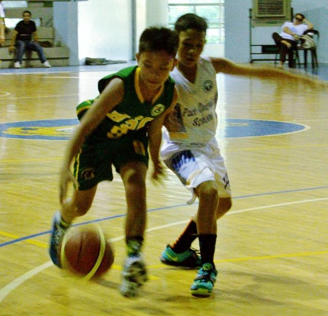 Elementary basketball: Visayas vs NCR, Visayas won 80-27.