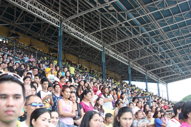 Sizeable crowd turns up for the opening of the 24th Cebu City Olympics at the Cebu City Sports Center.