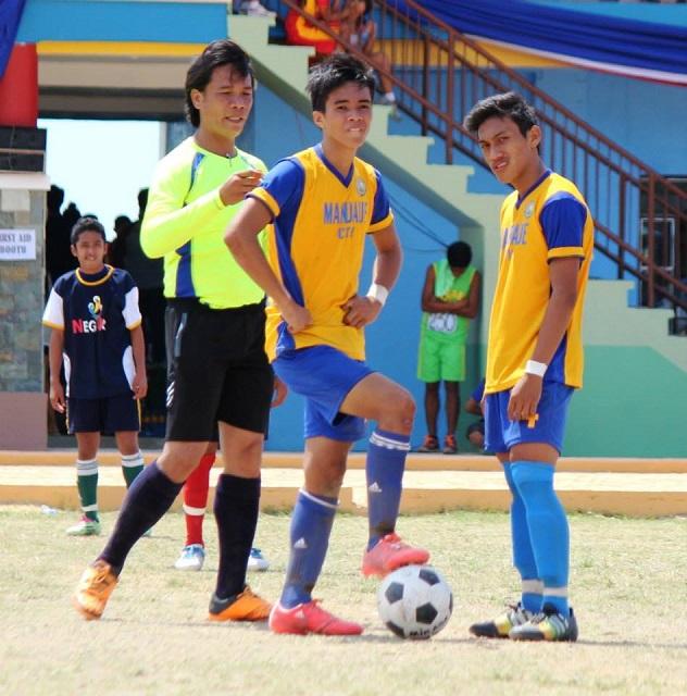 Kintaro Miyagi (middle) scored two goals in Mandaue's 3-1 semifinal win against defending champions Cebu City Ninos. (Photo taken from Miyagi's FB account)