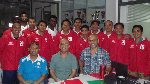 The Leylam FC Team's A and B with owner Ugur Tasci (sitting, R). (Contributed Photo)