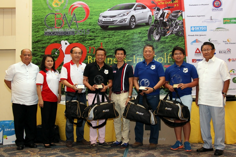 Team Junrex bagged the title of the 22nd Business in Golf Tournament.