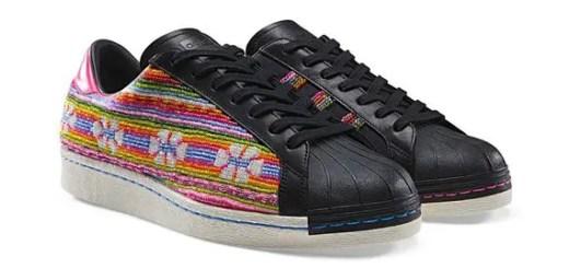 アディダス (Adidas) × ファレル ウィリアムス (Pharrell Williams)のコラボ、スーパースター (SUPERSTAR) 80s ボリビアンクラフト (Bolivian Craft)が発売!