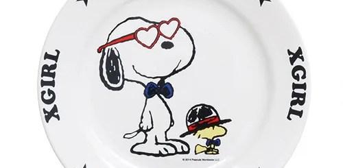 カワイイから完売しそう!エックスガール (X-girl) × スヌーピー (SNOOPY)のマグカップとプレートが5/15から発売!